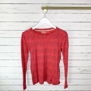 Lucky Brand Tops - Lucky Brand Red and Black Printed Long Sleeve Tee